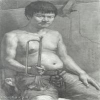 【超顶级】SM-10122651-素描半身艺考美考高分素描半身作品高清图片下载男青年女青年老年人专辑-227M-7318X10884