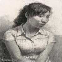 【印刷級】SM-10122763-素描半身藝考美考高分試卷模擬素描半身作品高清圖片下載男青年女青年老年人專輯喬建國老師作品-61M-3504X4596