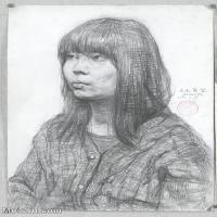 【印刷级】SM-10122568-素描半身艺考美考高分素描半身作品高清图片下载男青年女青年老年人专辑-103M-5112X7108