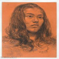 【印刷级】SM-10123147-素描头像美术高考素描优秀试卷八大美院男青年女青年高清图片-54M-3666X5232