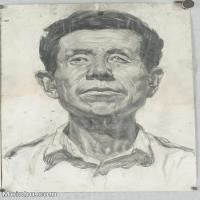【印刷级】SM-10123109-素描头像美术高考素描优秀试卷八大美院男青年女青年高清图片-95M-4832X6884
