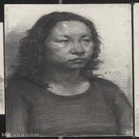 【超頂級】SM-10122616-素描半身藝考美考高分素描半身作品高清圖片下載男青年女青年老年人專輯-319M-8960X12473
