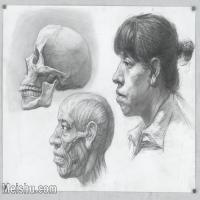 【印刷级】SM-10123114-素描头像美术高考素描优秀试卷八大美院男青年女青年高清图片-102M-6928X5171