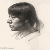 【印刷级】SM-10123124-素描头像美术高考素描优秀试卷八大美院男青年女青年高清图片-81M-4256X4992