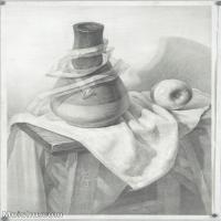 【印刷级】SM-10122885-素描静物美考优秀试卷艺考高分卷铅笔画美术生作品图片下载-76M-4388X6100