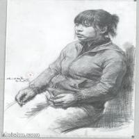 【超頂級】SM-10122579-素描半身藝考美考高分素描半身作品高清圖片下載男青年女青年老年人專輯-201M-7220X9760