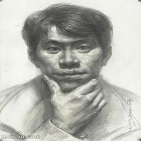 【印刷级】SM-10123123-素描头像美术高考素描优秀试卷八大美院男青年女青年高清图片-85M-4657X6444