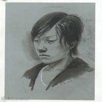 【印刷级】SM-10123142-素描头像美术高考素描优秀试卷八大美院男青年女青年高清图片-64M-4128X5436