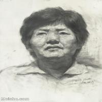 【印刷级】SM-10123137-素描头像美术高考素描优秀试卷八大美院男青年女青年高清图片-86M-4645X6528