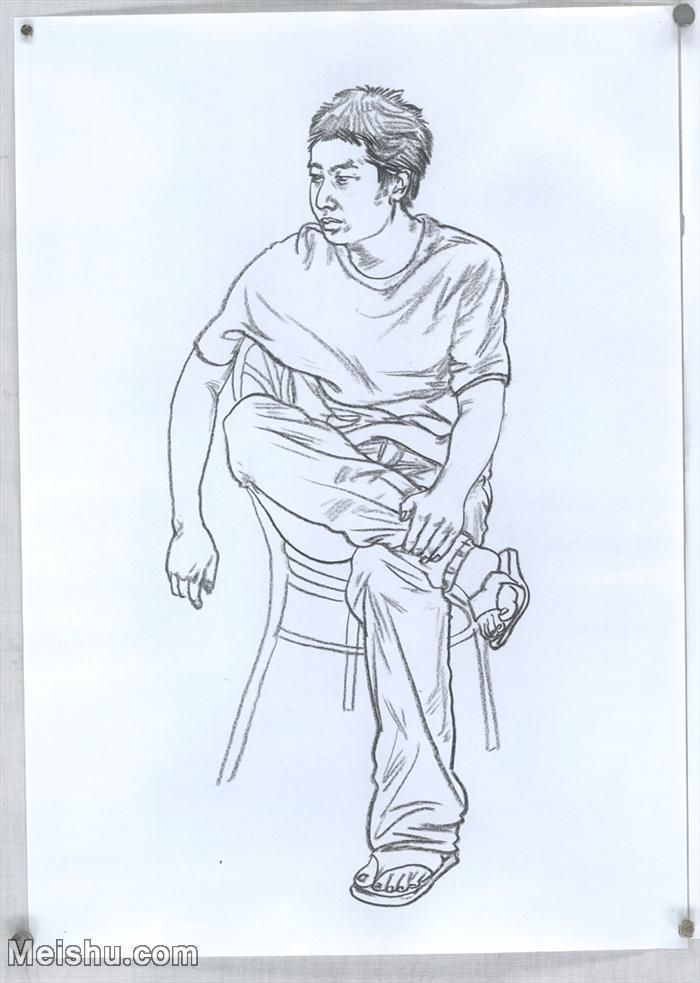 【印刷级】SM-10123644-人物速写美术高考人物速写考题模拟试卷高分试卷高清作品姜飞速写-60M-3886X545