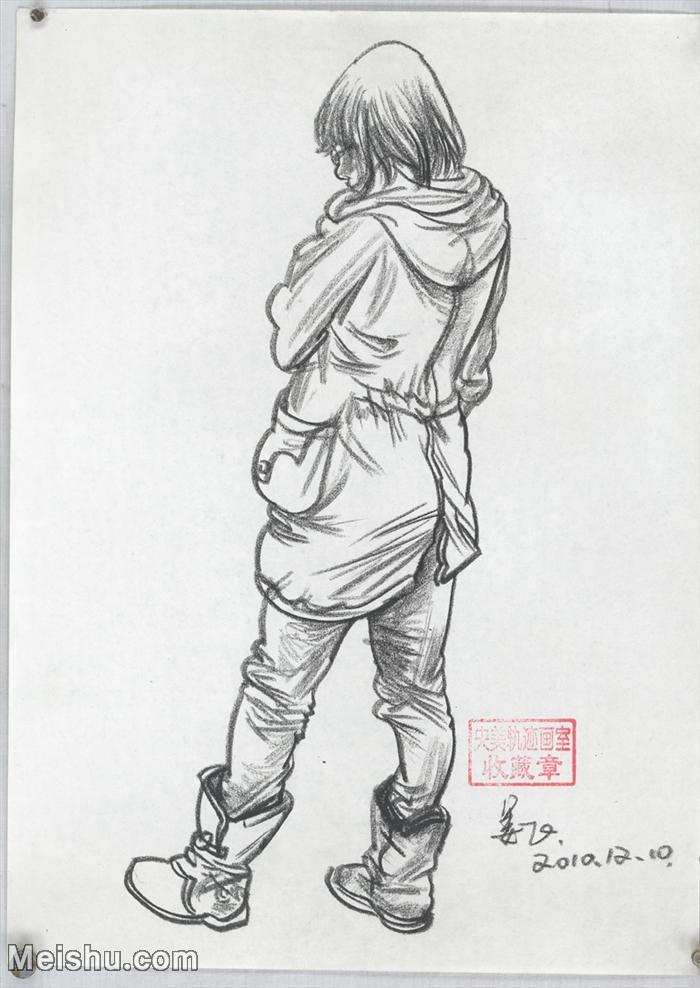 【印刷级】SM-10123611-人物速写美术高考人物速写考题模拟试卷高分试卷高清作品姜飞速写-42M-3255X459