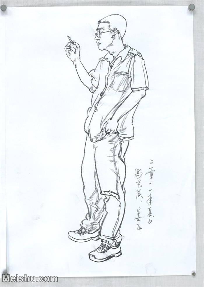 【印刷级】SM-10123620-人物速写美术高考人物速写考题模拟试卷高分试卷高清作品姜飞速写-62M-3960X555