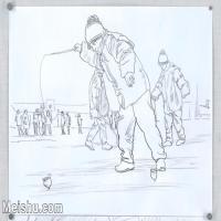 【印刷级】SM-10123367-场景速写高考人物速写场景作品高清作品姜飞老师速写作品-63M-5696X3888