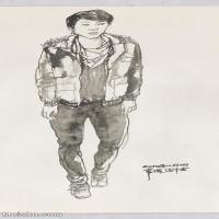【打印级】SM-10123814-人物速写美术高考人物速写考题模拟试卷高清作品常俊速写高清图片-38M-2616X5139