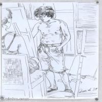 【印刷级】SM-10123365-场景速写高考人物速写场景作品高清作品姜飞老师速写作品-61M-3898X5536