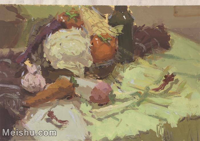 【印刷级】SF-10120813-水粉静物美院优秀试卷优秀考生绘画作品艺考高分题库高清图片-52M-4430X3112.