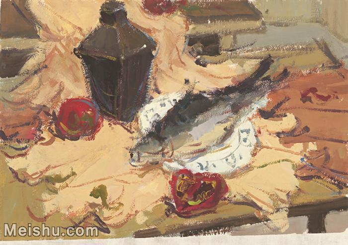 【印刷级】SF-10120701-水粉静物美院优秀试卷优秀考生绘画作品艺考高分题库高清图片-49M-4264X3014.