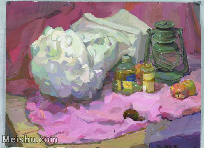 【印刷级】SF-10120789-水粉静物美院优秀试卷优秀考生绘画作品艺考高分题库高清图片-123M-7728X5600