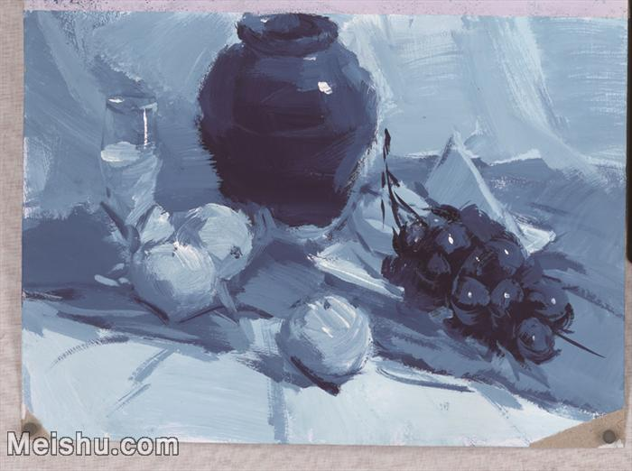 【印刷级】SF-10121319-水粉静物美院优秀试卷优秀考生绘画作品艺考高分题库高清图片-73M-5095X3802.