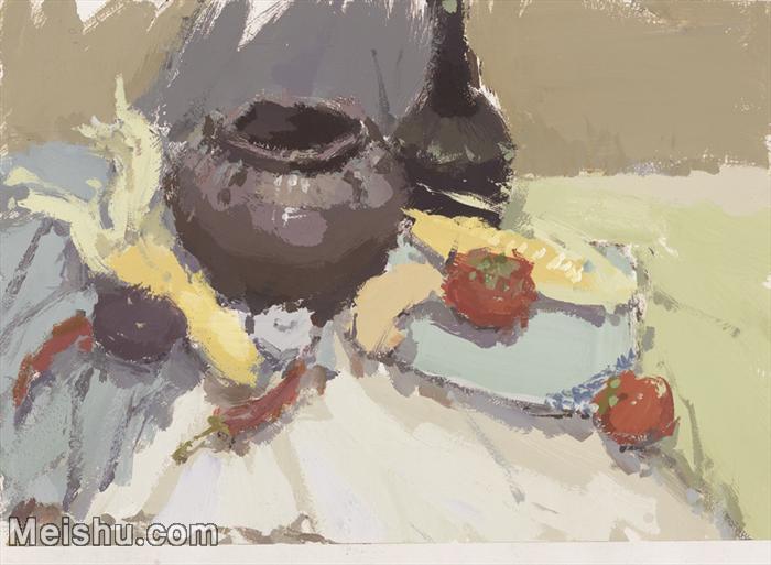 【印刷级】SF-10120703-水粉静物美院优秀试卷优秀考生绘画作品艺考高分题库高清图片-62M-4717X3456.