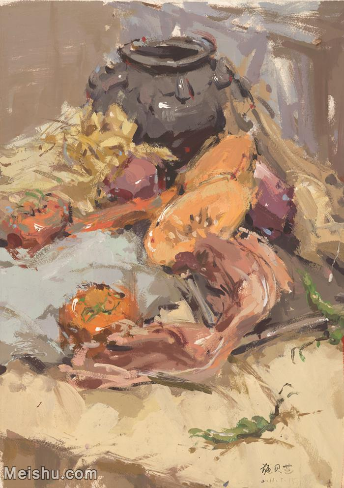 【印刷级】SF-10120655-水粉静物美院优秀试卷优秀考生绘画作品艺考高分题库高清图片-105M-4413X6257
