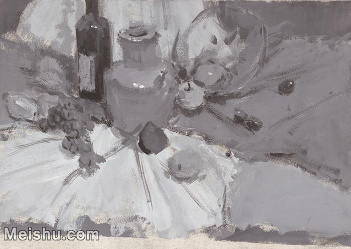 【印刷级】SF-10120803-水粉静物美院优秀试卷优秀考生绘画作品艺考高分题库高清图片-54M-4478X3181.