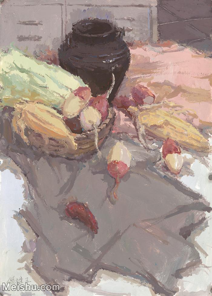 【印刷级】SF-10122361-水粉静物美院优秀试卷优秀考生绘画作品艺考高分题库高清图片-124M-4837X6747