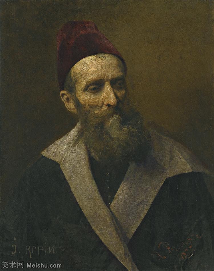 【印刷级】YHR15105438-列宾Ilya Repin经典油画作品高清图片人物肖像油画作品图片素材写实派画家油画作品