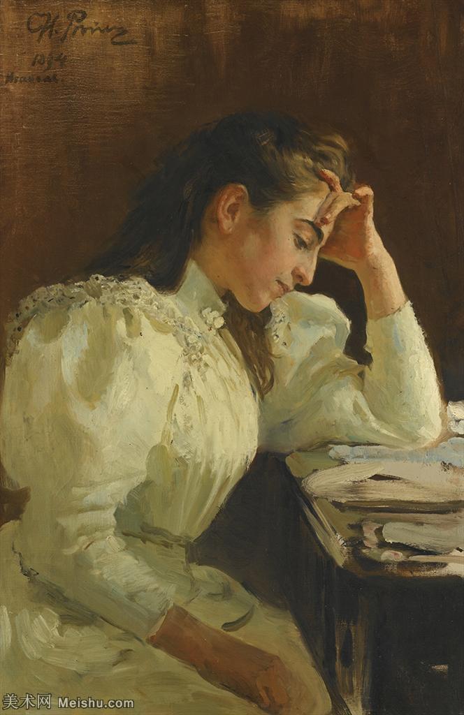 【欣赏级】YHR15105421-列宾Ilya Repin经典油画作品高清图片人物肖像油画作品图片素材写实派画家油画作品