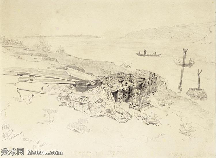 【欣赏级】SMR14154409-俄罗斯画家列宾Ilya Repin手绘素描速写作品图片素描手稿高清图片资料-8M-20