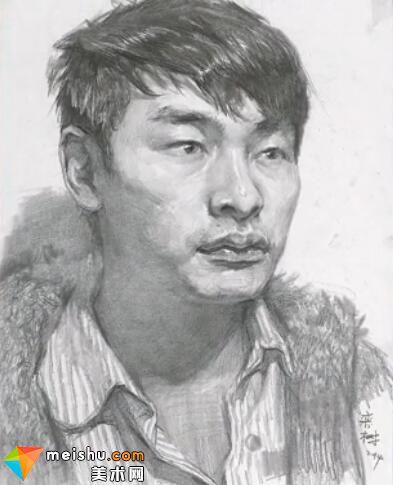美术高考视频教学--素描栾树男青年头像