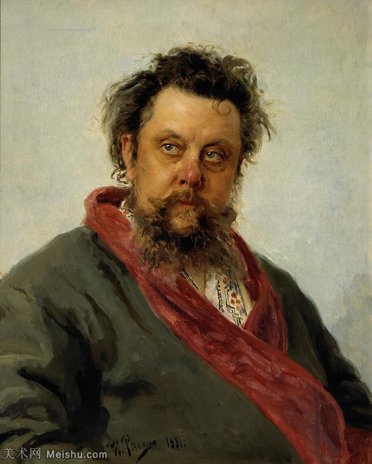 【打印级】YHR15105435-列宾Ilya Repin经典油画作品高清图片人物肖像油画作品图片素材写实派画家油画作品