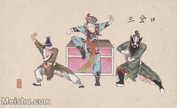 【超顶级】MSH1043民俗画三岔口杨柳青年画戏曲唱戏大戏图片-130M-7398X4525_1538937.jpg