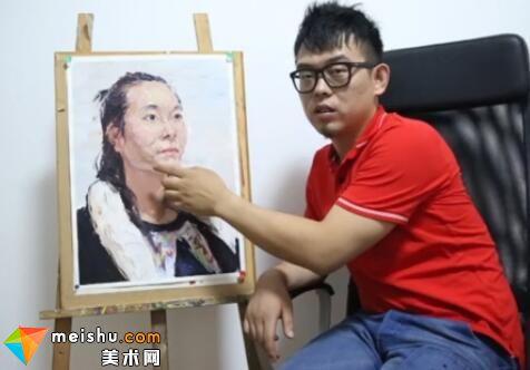美术高考视频教学-像典7头像p37彭冲色彩头像女青年