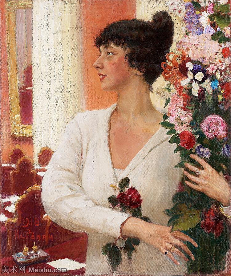 【打印级】YHR15105425-列宾Ilya Repin经典油画作品高清图片人物肖像油画作品图片素材写实派画家油画作品