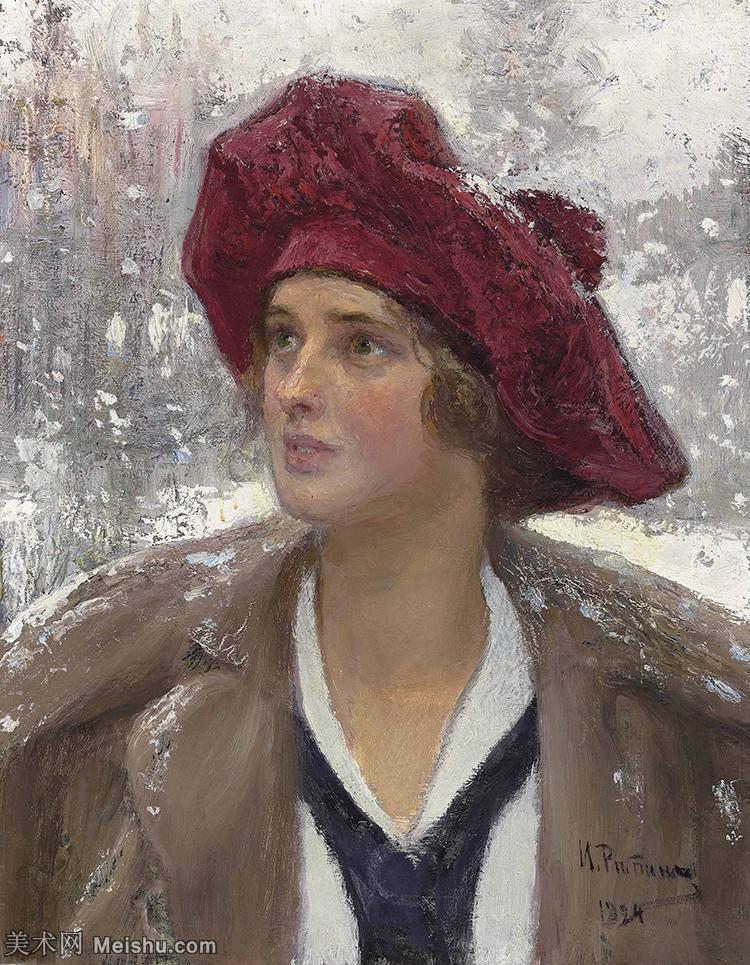 【打印级】YHR15105427-列宾Ilya Repin经典油画作品高清图片人物肖像油画作品图片素材写实派画家油画作品