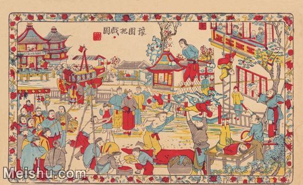 【超顶级】MSH1019民俗画豫园把戏图唱戏戏子大戏戏曲古老年画图片-51M-4727X2894_1546328.jpg