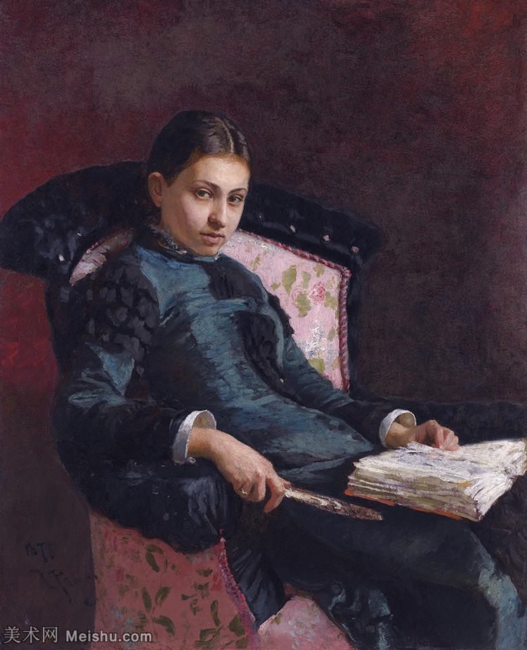 【印刷级】YHR15105441-列宾Ilya Repin经典油画作品高清图片人物肖像油画作品图片素材写实派画家油画作品