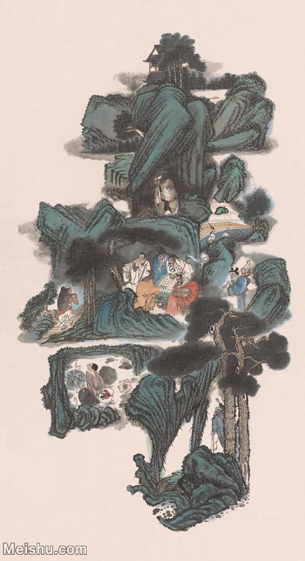 【超顶级】MSH1037民俗画八仙过海杨柳青年画寿福如东海寿比南山图片-933M-13329X24487_1515921