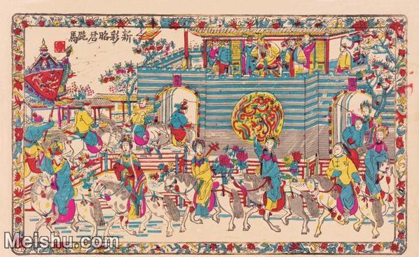 【超顶级】MSH1015民俗画昭君跪马古老年画人物图片-52M-4711X2894_1544656.jpg