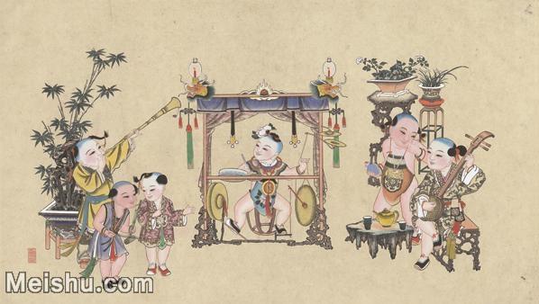 【超顶级】MSH1046民俗画杨柳青年画敲锣打鼓喜庆图片-398M-13512X7666_1537406.jpg