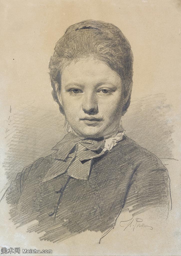 【打印级】SMR14154402-俄罗斯画家列宾Ilya Repin手绘素描速写作品图片素描手稿高清图片资料-32M-2
