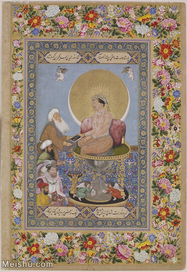 【打印级】YD12159601-印度画Bichitr   Jahangir Preferring a Sufi Shai