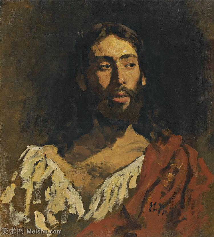 【印刷级】YHR15105440-列宾Ilya Repin经典油画作品高清图片人物肖像油画作品图片素材写实派画家油画作品