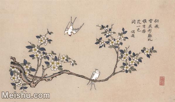 【超顶级】MSH1039民俗画杨柳青年画雪雁梨花图片-121M-7252X4266_1538421.jpg