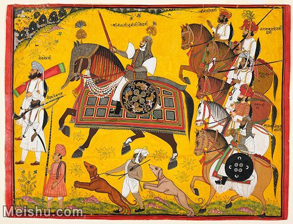 【打印级】YD12159610-印度画Pyara Singh  异域文化高清晰图片电子文件下载-22M-3200X244