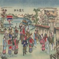 【超顶级】MSH1069民俗画六国封相杨柳青年画图片-352M-12147X7546_1529234