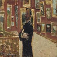【欣赏级】YHR15105404-列宾Ilya Repin经典油画作品高清图片人物肖像油画作品图片素材写实派画家油画作品大图-7M-2200X1248