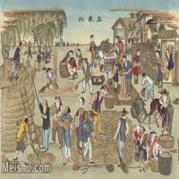 【超顶级】MSH1062民俗画庄稼忙杨柳青年画人物农民农活图片-338M-12603X7561_1550906