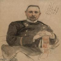 【欣赏级】SMR14154407-俄罗斯画家列宾Ilya Repin手绘素描速写作品图片素描手稿高清图片资料-9M-1686X1997